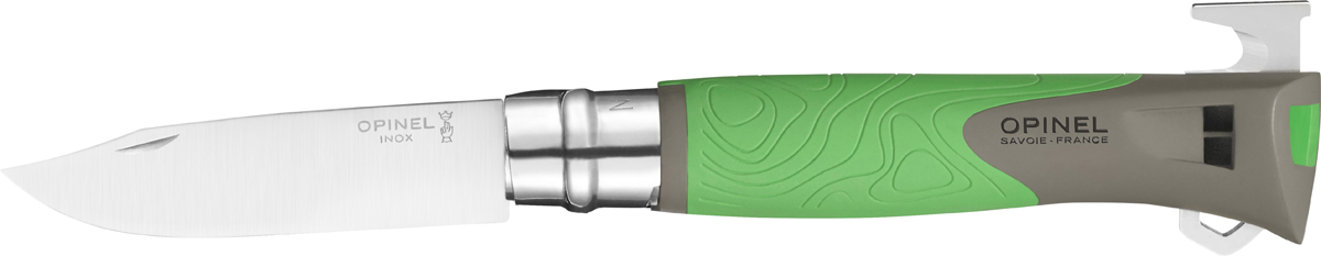 Opinel Specialist N°12 — функциональный нож с лезвием 10 см для любителей активного отдыха на природе. Короткий и острый клинок из нержавеющей стали Sandvik 12C27 подходит для самых разных целей. Для изготовления рукоятки используется сверхпрочный пластик, который, в отличие от дерева, не впитывает влагу и устойчив к экстремальным температурам. Рукоятка выполнена из приятного на ощупь материала и не выскальзывает из рук во время использования. Благодаря яркому цвету материала нож проще найти в рюкзаке, на траве, снегу, песке. Рукоятка ножа также может быть использована в качестве свистка – это поможет подать сигнал о помощи в экстренной ситуации.
