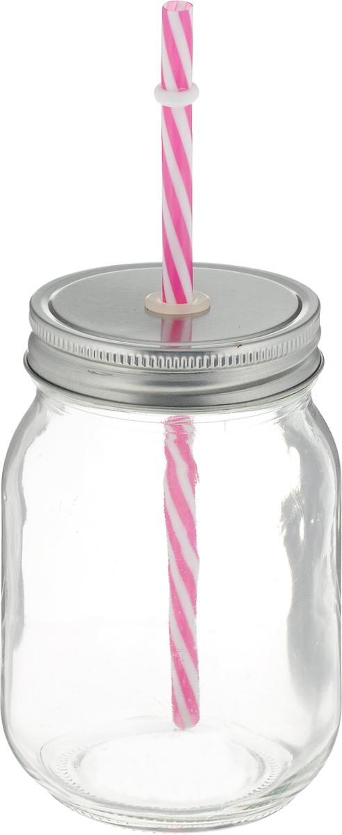 Емкость для напитков Zeller, 470 мл. 1972219722Емкость для напитков Zeller выполнена из высококачественного стекла. Изделие снабжено металлической крышкой с силиконовым отверстием для трубочки и трубочкой. Эта емкость станет идеальным вариантом для подачи лимонадов, ароматных свежевыжатых соков и вкусных смузи. Диаметр (по верхнему краю): 7 см.Высота емкости (без учета трубочки): 13 см.