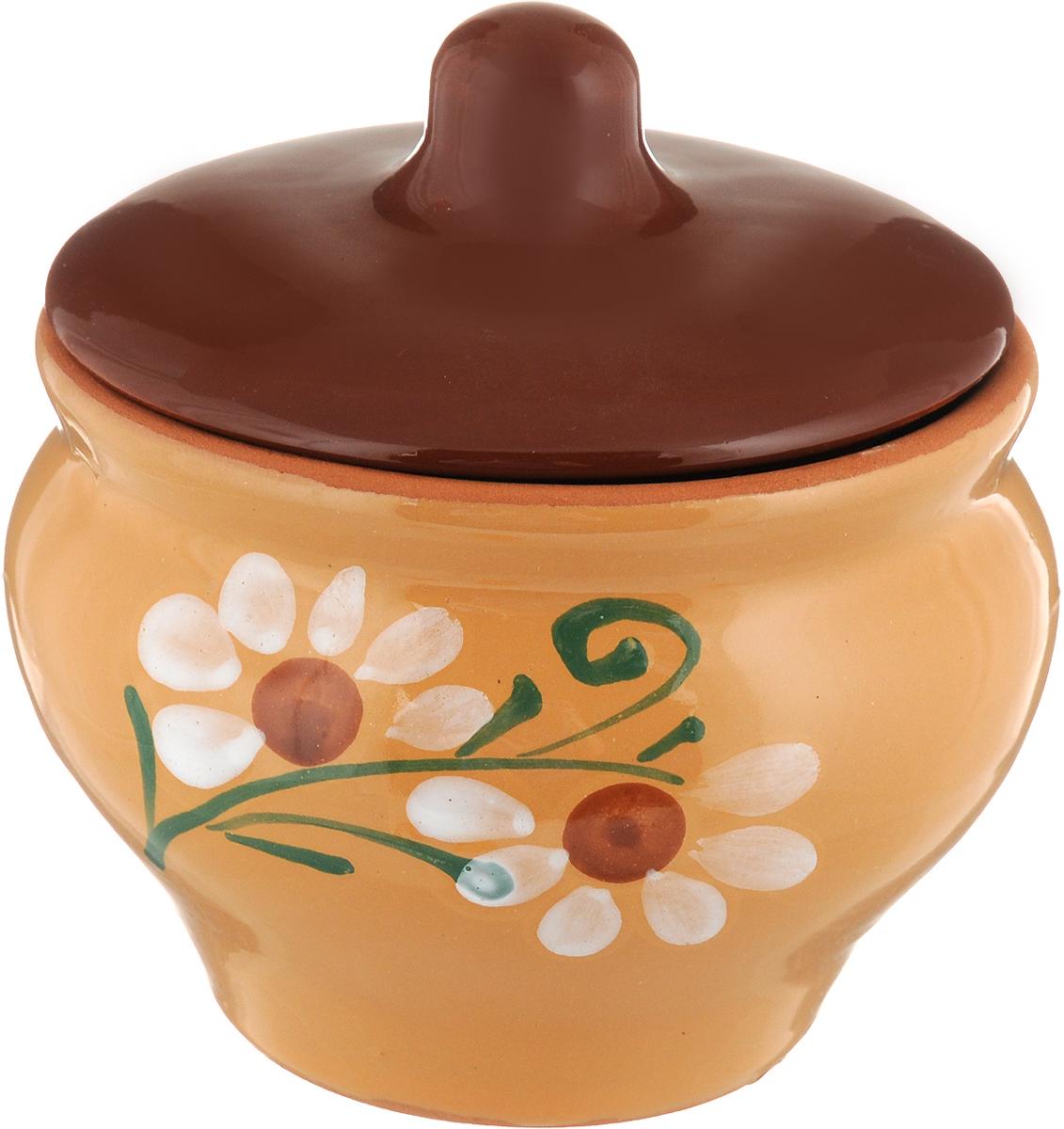 Горшочек Борисовская керамика Мечта хозяйки, цвет: коричневый, 350 мл. ОБЧ14457930ОБЧ14457930_коричневые с цветочкомЕсли вы любите готовить небольшие блюда, вроде сытных жульенов илиотдельно запеченного мяса - горшочек Борисовская керамика Мечта хозяйкиименно для вас. Объем изделия позволяет использовать его для приготовлениямини-блюд. Но это еще не все - горшочек будет очень удобен для хранения специйи приправ. Он выполнен из высококачественной керамики. В результате выполучаете одновременно посуду для приготовления и емкость для хранения. Горшочек подходит для использования в духовке и микроволновой печи.