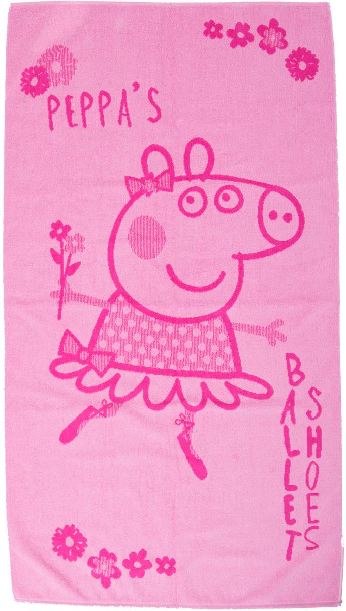 Полотенце махровое Свинка Пеппа. Балерина, 30 x 60 см кпб детский хлопок свинка пеппа рис 8804 8805 вид 1 пеппа балерина