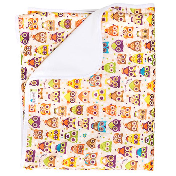 GlorYes! Впитывающая пеленка Совы 120 х 100 см, Подгузники и пеленки  - купить со скидкой