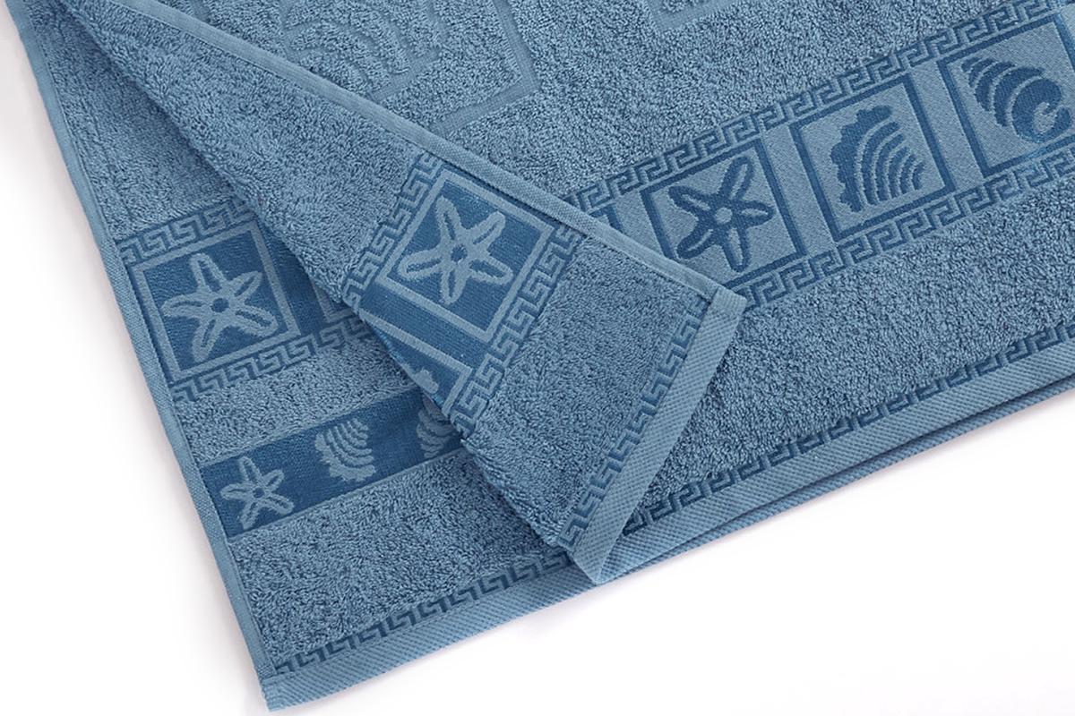Полотенце махровое Португалия Shell, цвет: бирюзовый, 50 x 100 см439257Махровые полотенца Португалия производятся из 100% хлопка - экологически чистого природного материала. Мягкое, легкое на ощупь, оно не намокает, а впитывает влагу, очень быстро сохнет.