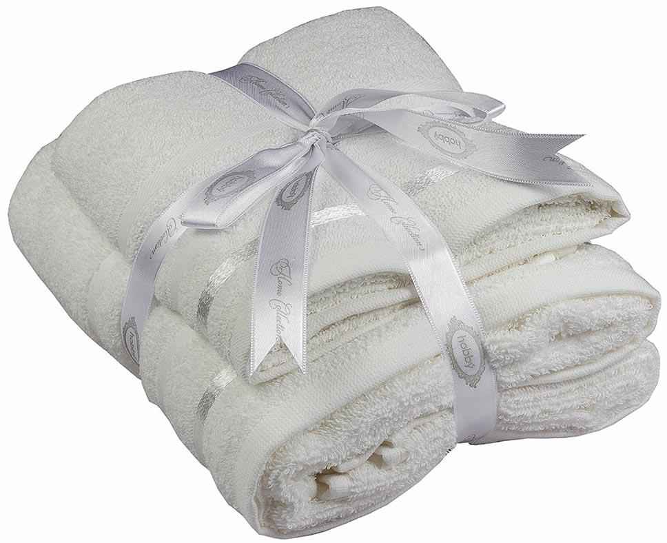 Полотенце махровое Hobby Home Collection Nisa, цвет: молочный, 50 х 90 см, 70 х 140 см, 2 шт1501001381Махровое полотенце Hobby Home Collection Nisa выполнено из натурального хлопка. Оно отлично впитывает влагу, быстро сохнет, сохраняет яркость цвета и не теряет форму после многократных стирок. Полотенце мягкое и приятное на ощупь. В комплекте 2 полотенца разного размера.