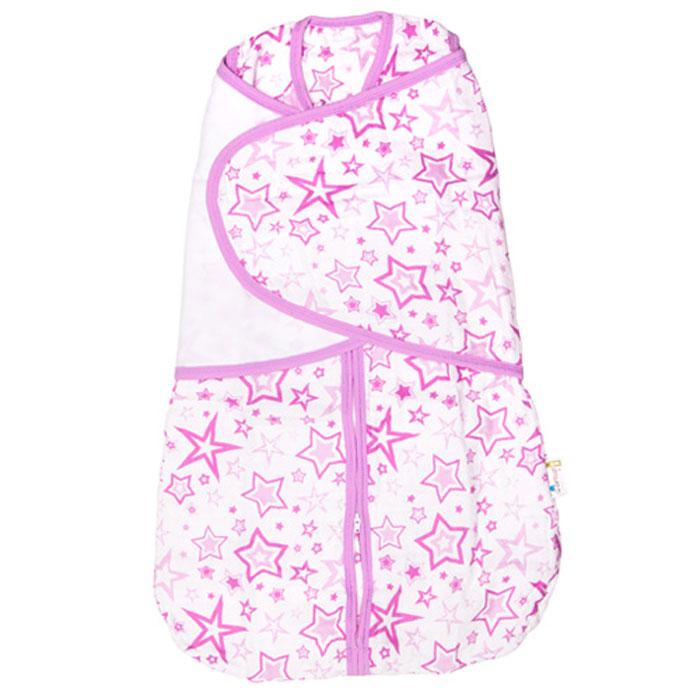 GlorYes! Спальный мешок 2 в 1 Розовые звезды 3-9 месяцев -  Подгузники и пеленки