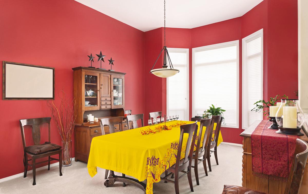 Скатерть рогожка СТС Кухня, цвет: желтый, 145 х 145 см316629