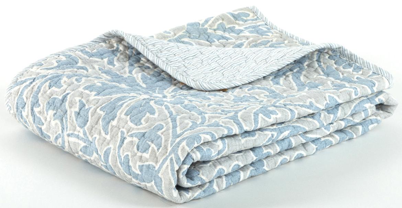 Покрывало Cozy Home Верона стеганое, цвет: серый, голубой, 230 х 250 см404811