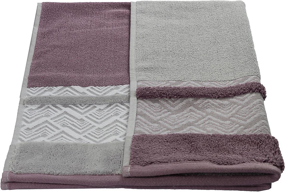 Полотенце махровое Hobby Home Collection Nazende, цвет: светло-бордовый, 50 х 90 см