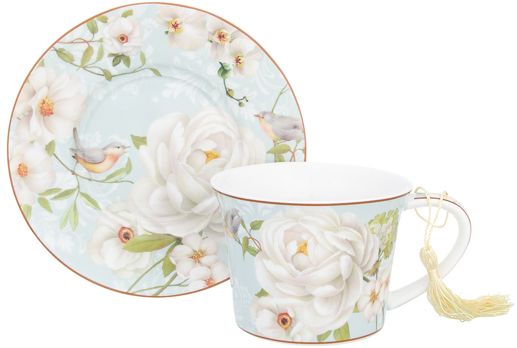 Чайная пара Elan Gallery Дикая роза, 270 мл, 2 предмета чайники заварочные elan gallery чайник дикая роза