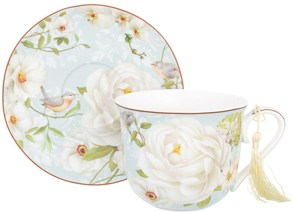 Чайная пара Elan Gallery Дикая роза, 500 мл, 2 предмета чайники заварочные elan gallery чайник дикая роза