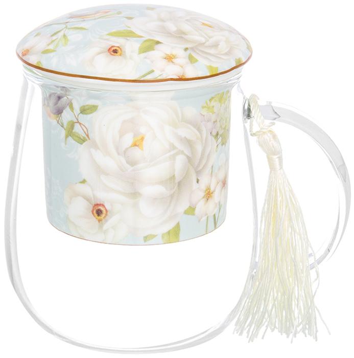 Кружка Elan Gallery Дикая роза, с ситом и крышкой, 400 мл чайники заварочные elan gallery чайник дикая роза