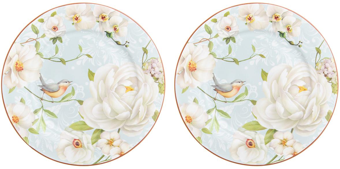 Набор десертных тарелок Elan Gallery Дикая роза, диаметр 19 см, 2 шт чайники заварочные elan gallery чайник дикая роза
