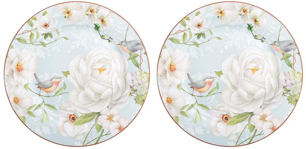 Набор тарелок Elan Gallery Дикая роза, диаметр 26 см, 2 шт чайники заварочные elan gallery чайник дикая роза