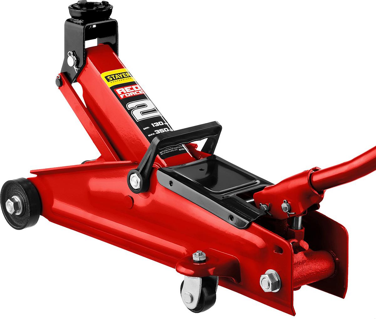 Домкрат Stayer Red Force, гидравлический подкатной, 2 т, высота подъема 13-35 см43153-2Домкрат гидравлический подкатной Stayer 43153-2, может использоваться как профессионалами на станции СТО, так и простыми автолюбителями. Компактный и мобильный. Упакован в пластиковый кейс для удобной переноски домкрата. Компактный подкатной домкрат легко передвигать или даже взять с собой в дорогу. Широкий рабочий диапазон высот. Высокая грузоподъемность. Пластиковый кейс для хранения и переноски.