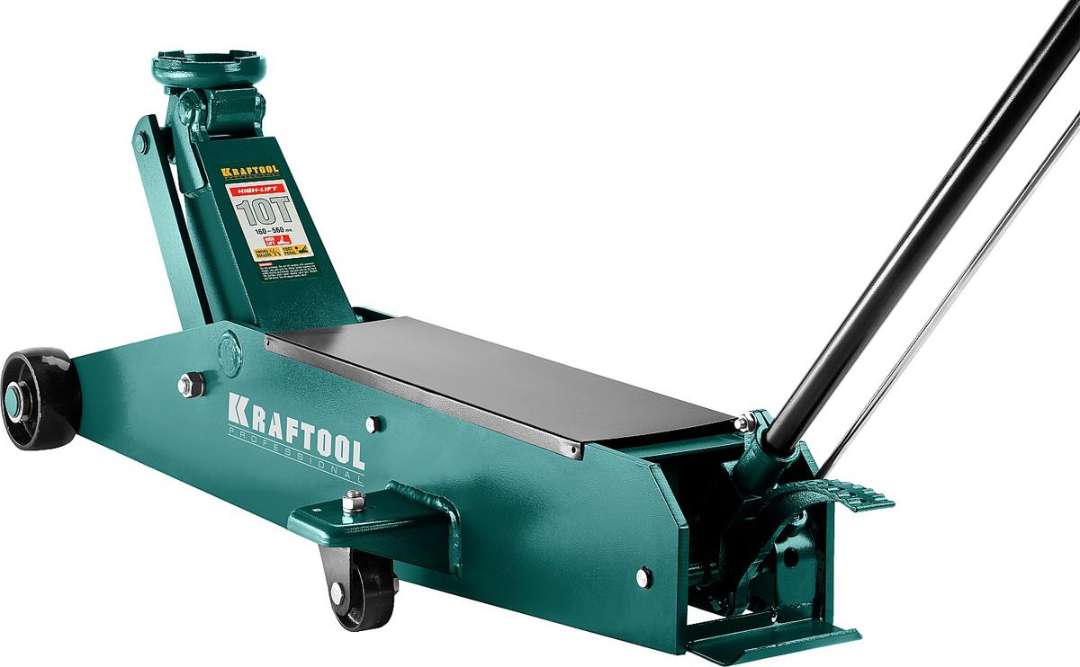 Домкрат Kraftool High-Lift, гидравлический подкатной, удлиненный, 10 т, высота подъема 16-56 см43455-10Домкрат гидравлический подкатной Kraftool 43455-10, предназначен для профессионального выполнения работ по техническому обслуживанию автомобилей. Изготовлен из твердой закаленной стали, оборудован эргономической ручкой с резиновым покрытием, имеет резиновую накладку на рабочей опорной поверхности.