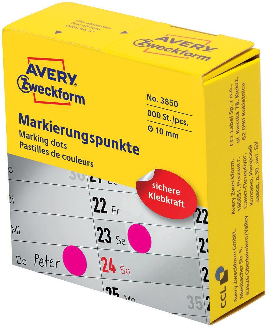 Avery Zweckform Этикетки-точки самоклеящиеся в диспенсере цвет: красный диаметр 1 см 800 шт упаковочные этикетки 500 5