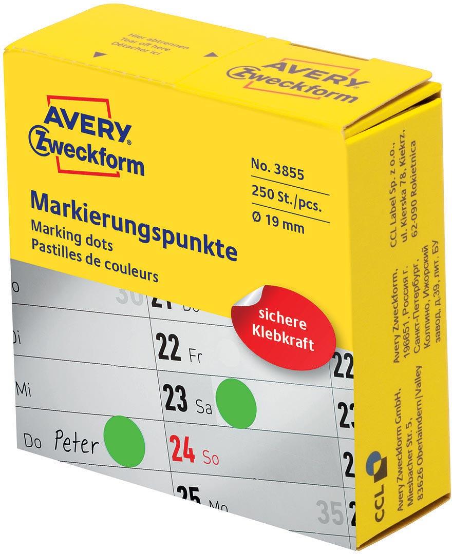 цены Avery Zweckform Этикетки-точки самоклеящиеся в диспенсере цвет: зеленый диаметр 1,9 см 800 шт