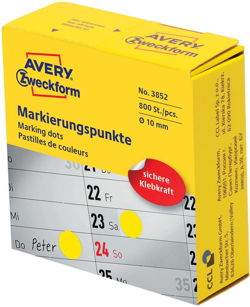 Avery Zweckform Этикетки-точки самоклеящиеся в диспенсере цвет: синий диаметр 1 см 800 шт 3852