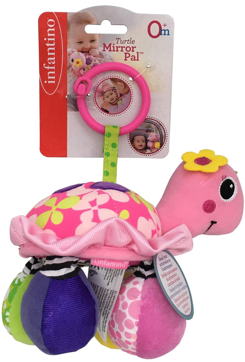 Infantino Игрушка-подвеска Черепашка цвет розовый черепашка нажимай и догоняй