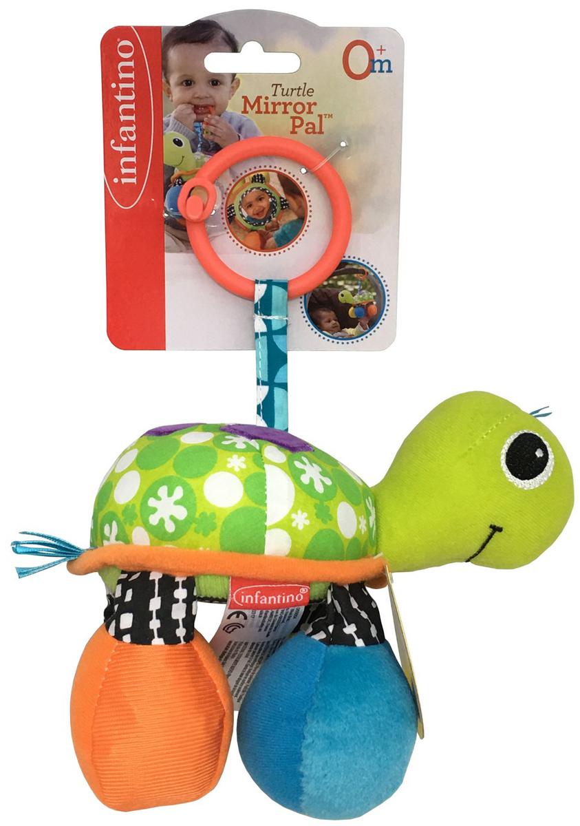 Infantino Игрушка-подвеска Черепашка цвет зеленый мягкая игрушка beanie boo s черепашка shellby цвет салатовый коричневый 40 5 см