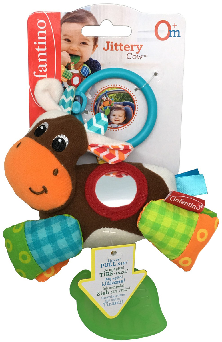 Infantino Игрушка-подвеска Коровка развивающая игрушка infantino коровка 506 845