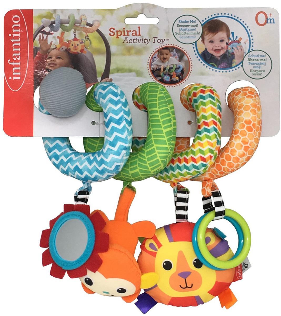 Infantino Развивающая игрушка Спиралька развивающая игрушка infantino коровка 506 845