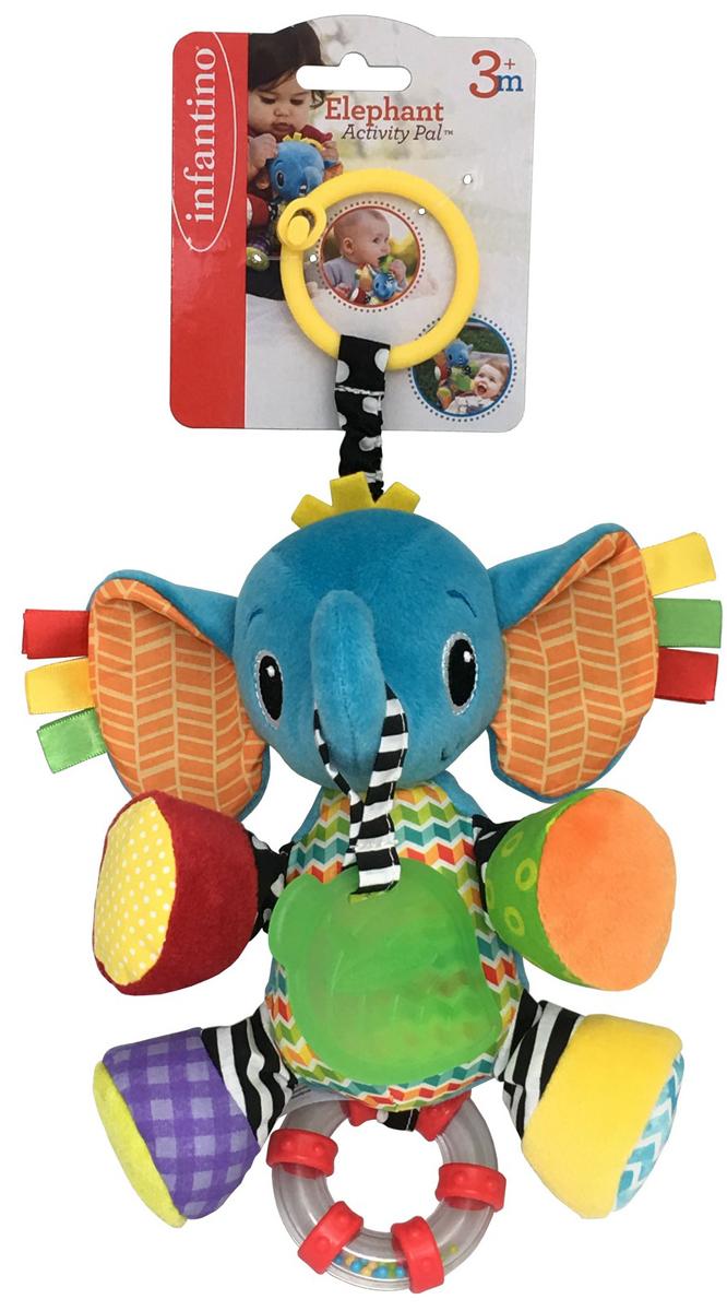 Infantino Игрушка-подвеска Слоненок подвесные игрушки мир детства мини подвеска слоненок