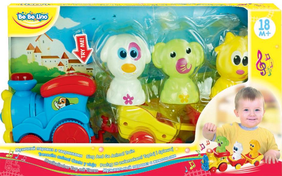 BebeLino Развивающая игрушка Паровоз с животными - Игрушки для малышей