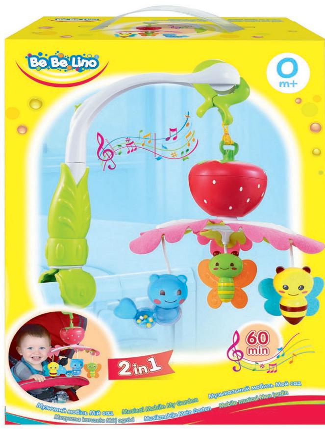 BebeLino Мобиль музыкальный Мой сад - Игрушки для малышей