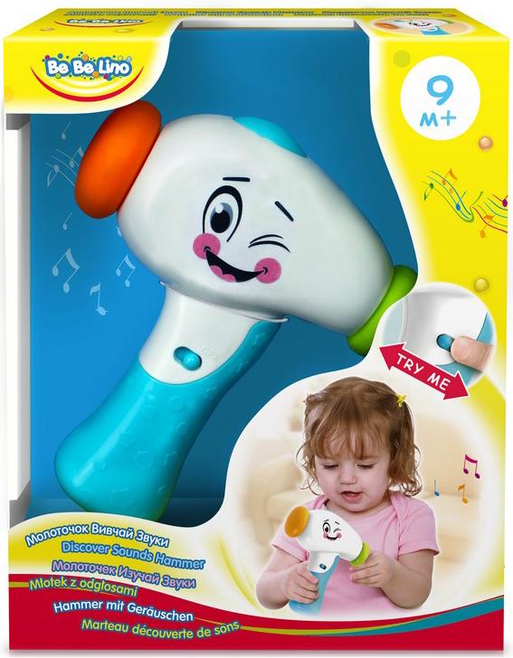 BebeLino развивающая игрушка Молоточек Изучай Звуки развивающая игрушка stellar веселый молоточек цвет зеленый желтый голубой