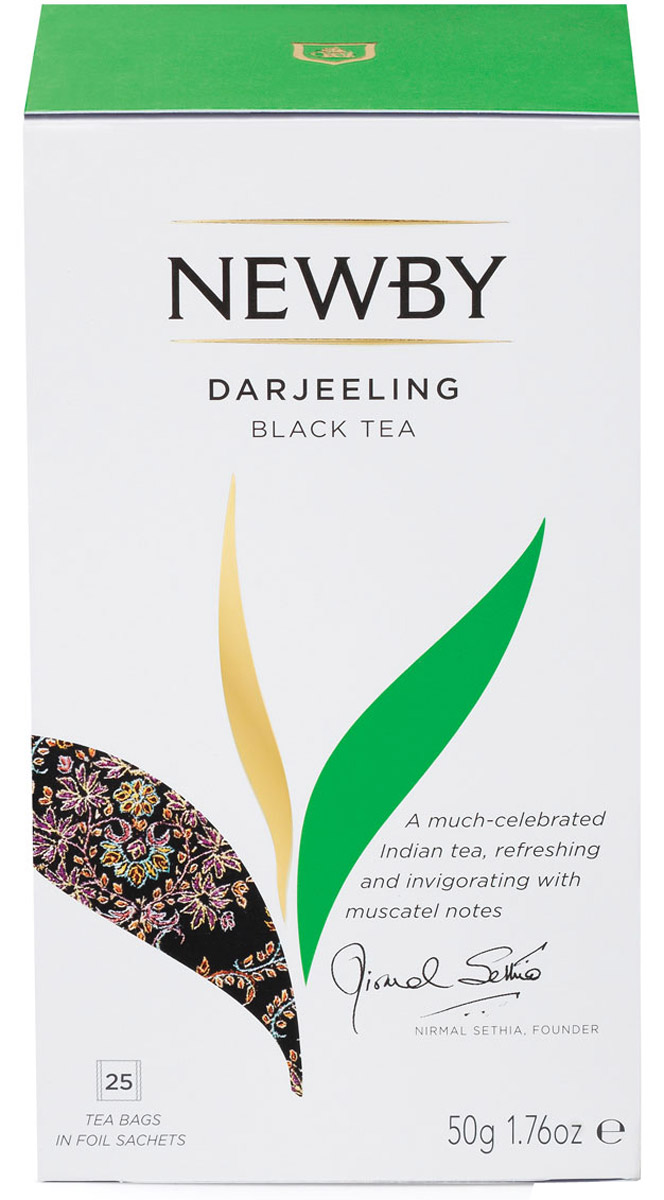 Newby Darjeeling черный чай в пакетиках, 25 шт newby assam черный чай в пакетиках 25 шт