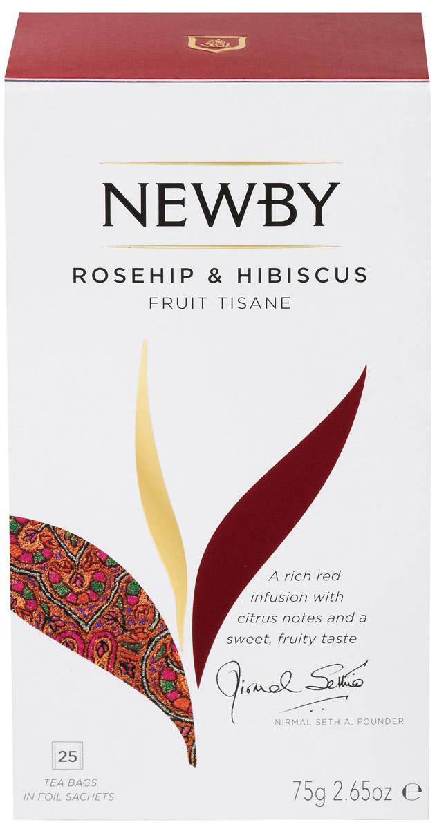 Newby Rosehip & Hibiscus фруктовый чай в пакетиках, 25 шт310160Newby Rosehip & Hibiscus - чай с ярко-красным настоем, освежающей кислинкой и великолепно сбалансированным фруктовым вкусом. Он состоит из смеси цветков гибискуса и сушеных ягод шиповника, который богат витамином С. Прозрачный настой темно-красного цвета обладает острым пикантным бодрящим вкусом.Уважаемые клиенты! Обращаем ваше внимание на то, что упаковка может иметь несколько видов дизайна.Поставка осуществляется в зависимости от наличия на складе.Всё о чае: сорта, факты, советы по выбору и употреблению. Статья OZON Гид