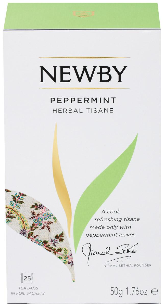 Newby Peppermint травяной чай в пакетиках, 25 шт newby hi chung зеленый листовой чай 125 г