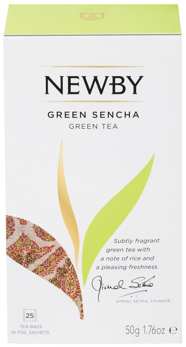 Newby Green Sencha зеленый чай в пакетиках, 25 шт bismillah green черный чай в пакетиках 25 шт