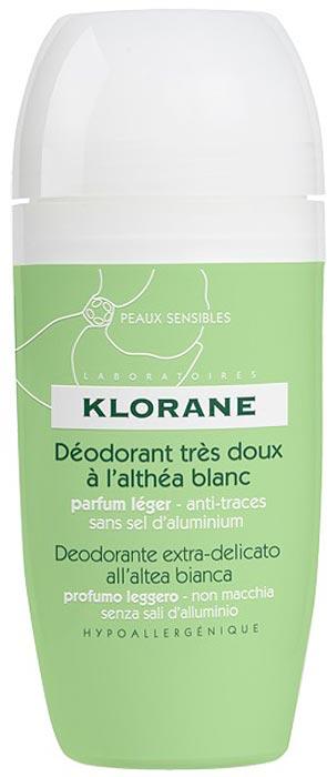 Klorane Дезодорант шариковый сверхмягкий с белым алтеем, 40 мл4627128056809Эффективно нейтрализует запах пота. Не оставляет белых пятен. Имеет легкий приятный аромат. Гипоаллергенный. Подходит даже для самой чувствительной кожи.