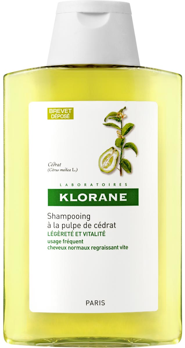 Klorane Шампунь с мякотью цитрона тонизирующий, 200 мл klorane шампунь с миндалем для придания объема тонким волосам 200 мл