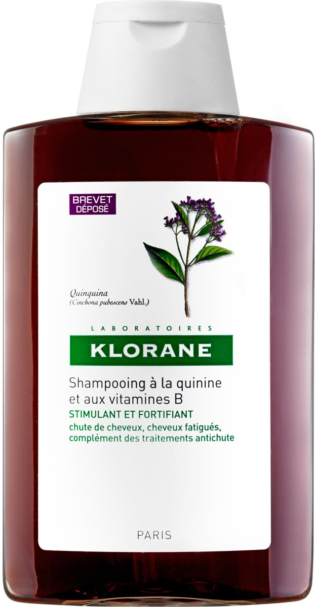 Klorane Шампунь с экстрактом хинина укрепляющий, 200 мл концентрат укрепляющий с комплексом хинина и кофеина 125 мл klorane thinning hair