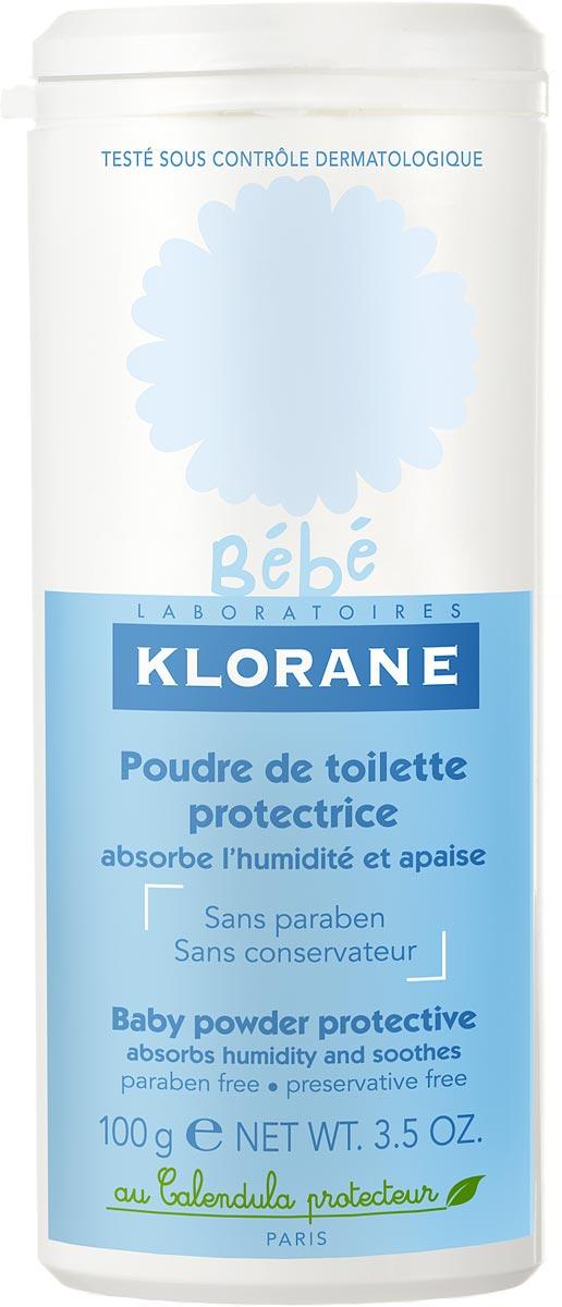 Klorane Bebe Защитная туалетная присыпка 100 г