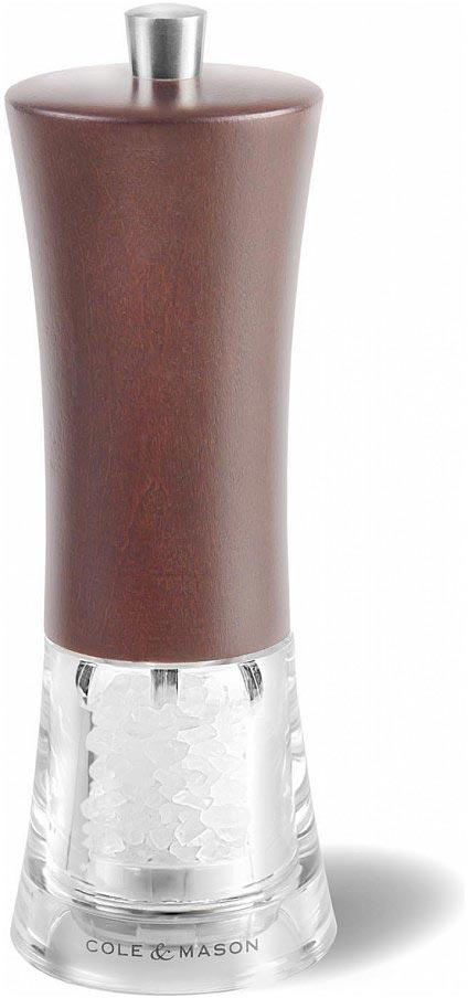 Мельница для соли Cole & Mason Genoa Forest, цвет: коричневый, 5 х 5 х 16,5 смH304692PКлассическая мельница для соли Genoa Forest, с корпусом из темного дерева, в сочетании сполированной сталью и прочной акриловой колбой.Классический дизайн, легендарное качество, максимальное удобство в использовании,применение экологичных материалов: это Cole&Mason -всемирно известный эталон кухонных аксессуаров из Британии.