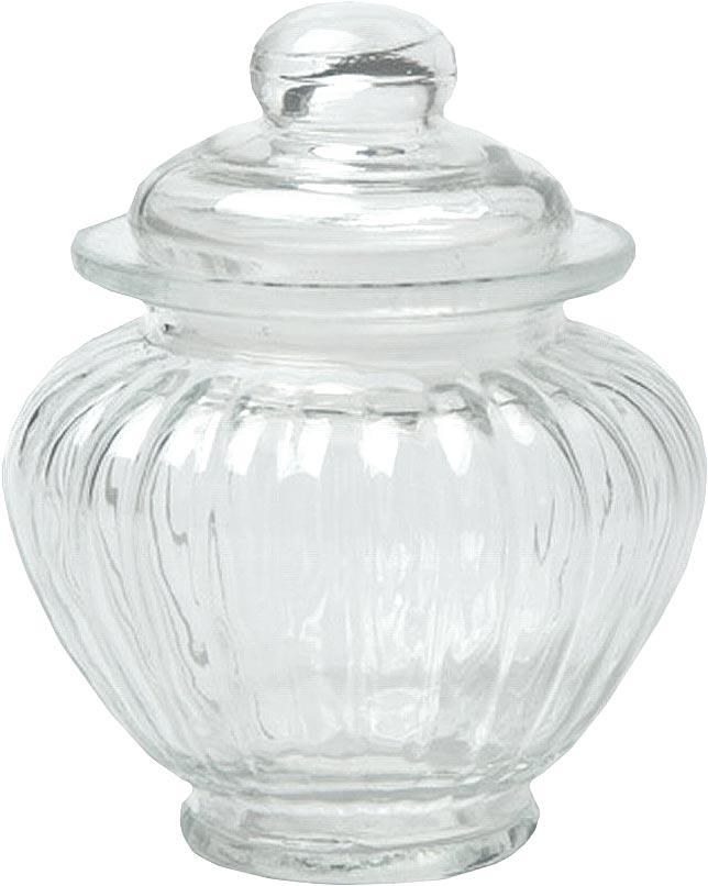 Банка для хранения Walmer Wave, цвет: прозрачный, 0,3 лW05120030Банка для хранения Walmer Wave изготовлена из прочного граненого стекла. Изделие снабжено крышкой, которая плотно закрывается благодаря пластиковому уплотнителю. Изделие имеет прозрачные стенки, поэтому всегда видно, что именно находится внутри. Банка удобна для хранения круп, сахара, специй, кофе или чая. Она стильно дополнит интерьер и поможет эффективно организовать пространство на кухне.