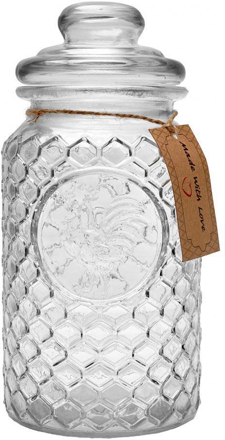 """Банка для хранения Walmer """"Rooster"""" изготовлена из прочного прозрачного стекла и снабжена крышкой.  Специальная силиконовая прослойка позволяет плотно закрывать крышку, что исключает попадание внутрь  влаги и обеспечивает долгое хранение продукта. Банка подходит для специй, чая, кофе, круп, сахара и соли и  многого другого.  Такая банка стильно дополнит интерьер кухни и поможет эффективно организовать пространство."""
