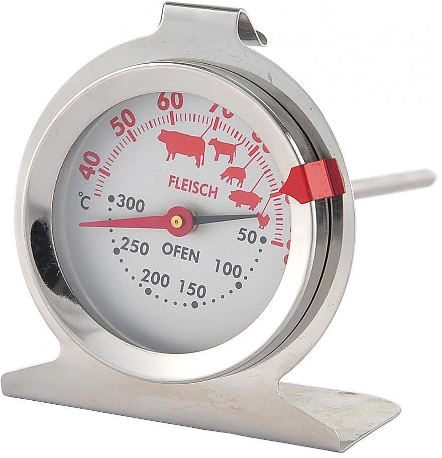 Термометр для приготовления пищи Walmer, длина 13 смW30013013Большой кусок мяса сложно пропечь. Контролировать процесс приготовлениявам позволит специальный термометр. Он измеряет температуру внутрикуска мяса, а также может быть использован для измерения температуры вдуховке.На шкале термометра пиктограммами обозначены оптимальныетемпературы для приготовления разных видов мяса. Такой термометр станетнезаменимым помощником на вашей кухне.