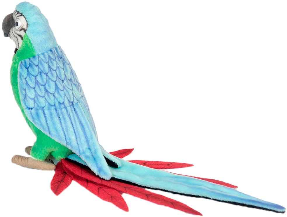 Hansa Мягкая игрушка Зеленый попугай 37 см