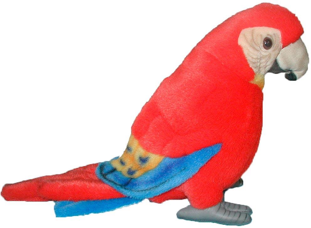 Hansa Мягкая игрушка Попугай Ара цвет красный 20 см флексика пазл для малышей попугай цвет основы красный
