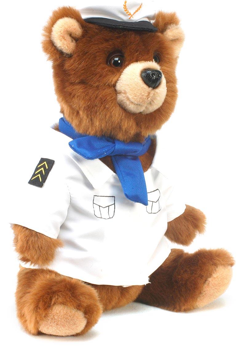 Hansa Мягкая игрушка Медведь-пилот 25 см hansa мягкая игрушка зебра