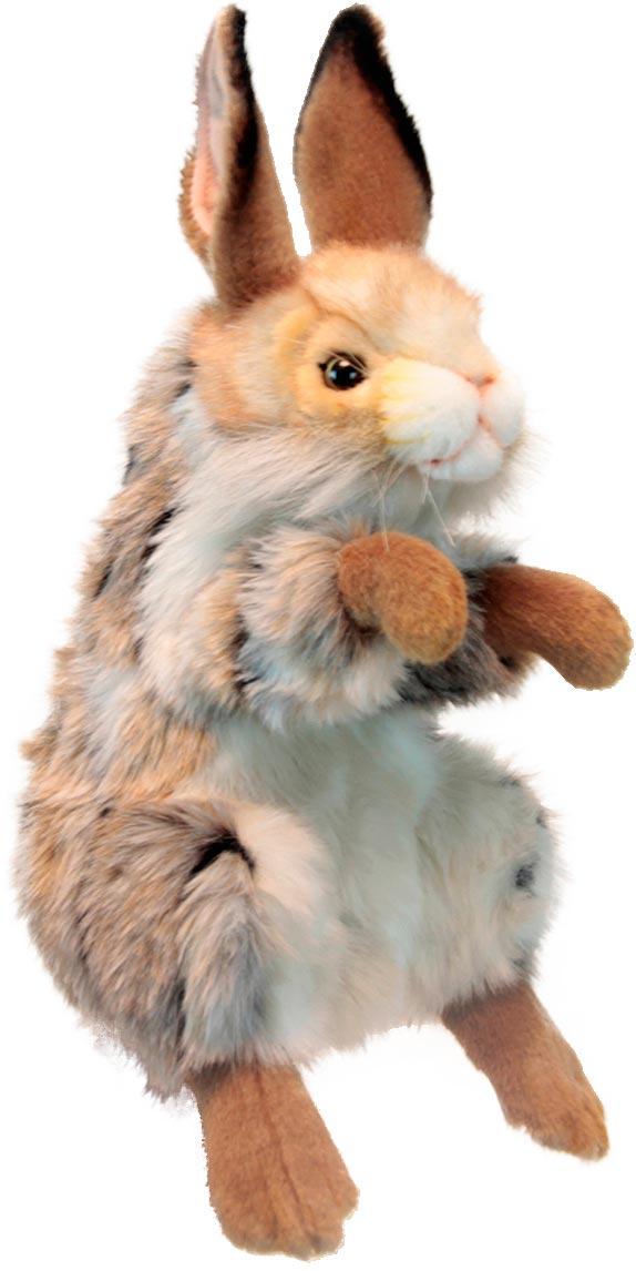 Hansa Мягкая игрушка на руку Заяц 35 см hansa мягкая игрушка заяц hansa