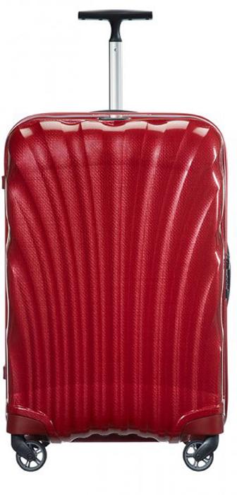 Чемодан Samsonite Cosmolite FL 2, цвет: красный, 36 л. V22-00302V22-00302Стильный чемодан Samsonite Cosmolite FL 2, изготовленный из качественного пластика,подойдет для путешествий, командировок и переездов. Удобная модель объемом 36 лпозволяет разместить достаточное количество вещей.Чемодан закрывается назастежку молнию с двумя бегунками и оснащен замком безопасности TSA, который исключаетвозможность взлома при досмотре во время путешествий. Отверстие в кодовом замкепредназначено для работников таможни (открытие багажа для досмотра без присутствияхозяина). Ключ находится только у таможни.Высококачественная фурнитура гарантируетпрочность всех деталей, надежность молний и плавность выдвижной ручки с регулируемойвысотой, а колеса обеспечивают плавность хода вашему чемодану.Текстильныйразделитель в основном отделении дает возможность разместить одежду по степенивостребованности. С помощью перекрестных ремней вся одежда с легкостью упаковывается.Исключается ее перемещение во время транспортировки.Благодаря прочному корпусу,позволяют распределить нагрузку равномерно, что облегчает передвижение сумки.