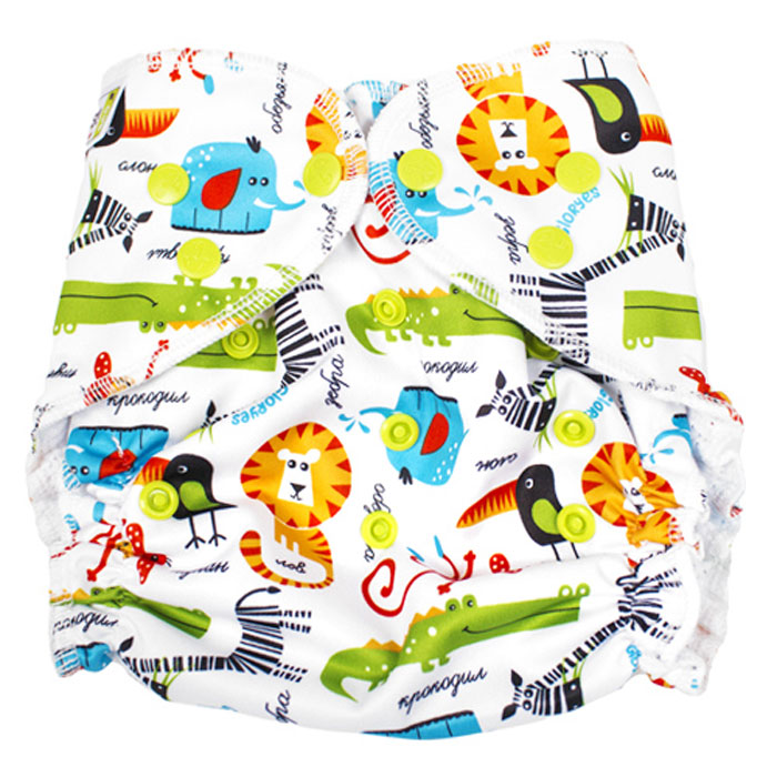 GlorYes! Многоразовый подгузник для плавания Сафари 3-18 кг нагрудник gloryes цветы