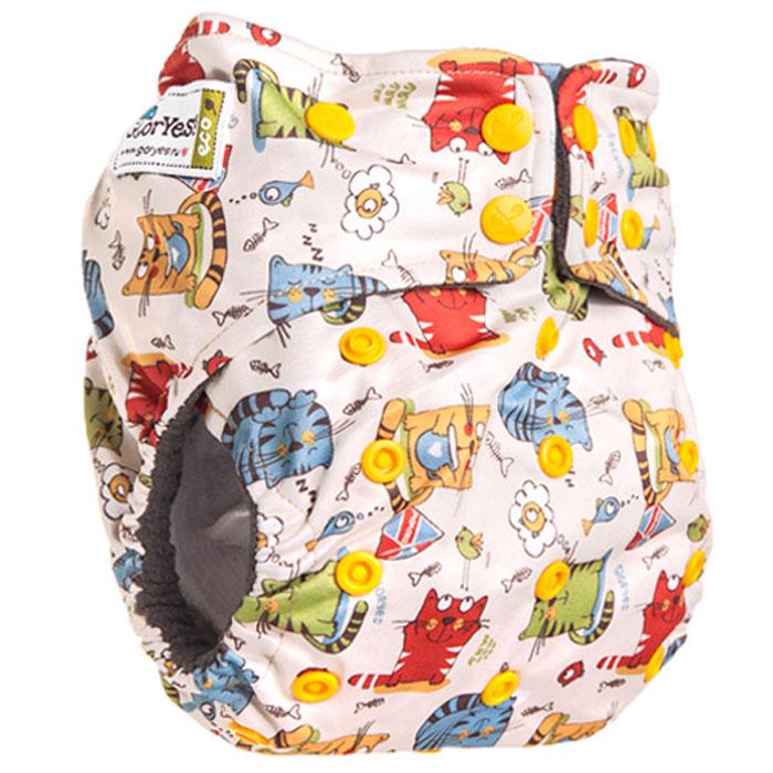 GlorYes! Многоразовый подгузник Premium Котята 3-18 кг + два вкладыша - Подгузники и пеленки