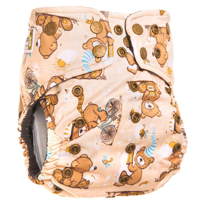 GlorYes! Многоразовый подгузник Premium Медвежонок 3-18 кг + два вкладыша - Подгузники и пеленки
