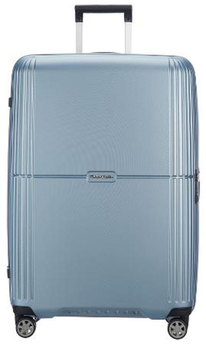 Чемодан Samsonite Orfeo, цвет: серебристо-голубой, 72 л. CC4-25002CC4-25002Чемодан Samsonite Orfeo - это практичный и легкий чемодан, выполненный из качественного поликарбоната, очень прочного и устойчивого к износу материала. br> Чемодан закрывается на удобную застежку-молнию с двойным бегунком и оснащен замком безопасности TSA, который исключает возможность взлома при досмотре во время путешествий. Отверстие в кодовом замке предназначено для работников таможни (открытие багажа для досмотра без присутствия хозяина). Ключ находится только у таможни.Высококачественная фурнитура гарантирует прочность всех деталей, надежность молний и плавность выдвижной ручки с регулируемой высотой, а двойные колеса обеспечивают плавность хода вашему чемодану.Выдвижная ручка, фиксирующаяся в нескольких положениях, обеспечивает хорошую устойчивость и может быть отрегулирована под рост каждого пользователя.Внутри чемодан состоит из двух отделений, которые дополнены встроенным разделителем. Одно из отделений выполнено с багажными ремнями, соединяющимися при помощи пластикового карабина. На крышке, с внутренней стороны предусмотрено отделение на застежке молнии.Модель оснащена четырьмя вращающимися пластиковыми колесами, которые обеспечивают легкость перемещения в любом направлении.Также сверху и сбоку предусмотрены ручки для поднятия чемодана.Как выбрать чемодан. Статья OZON Гид